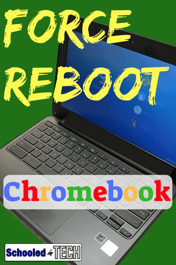 How To Force A Chromebook to Reboot. Sometimes a Chromebook freezes or nothing will show on the screen. This occasionally happens for students and teachers in schools. Here's how to make your Chromebook reset or reboot. #chromebook #google #laptop #teacher #student #school #techtip
