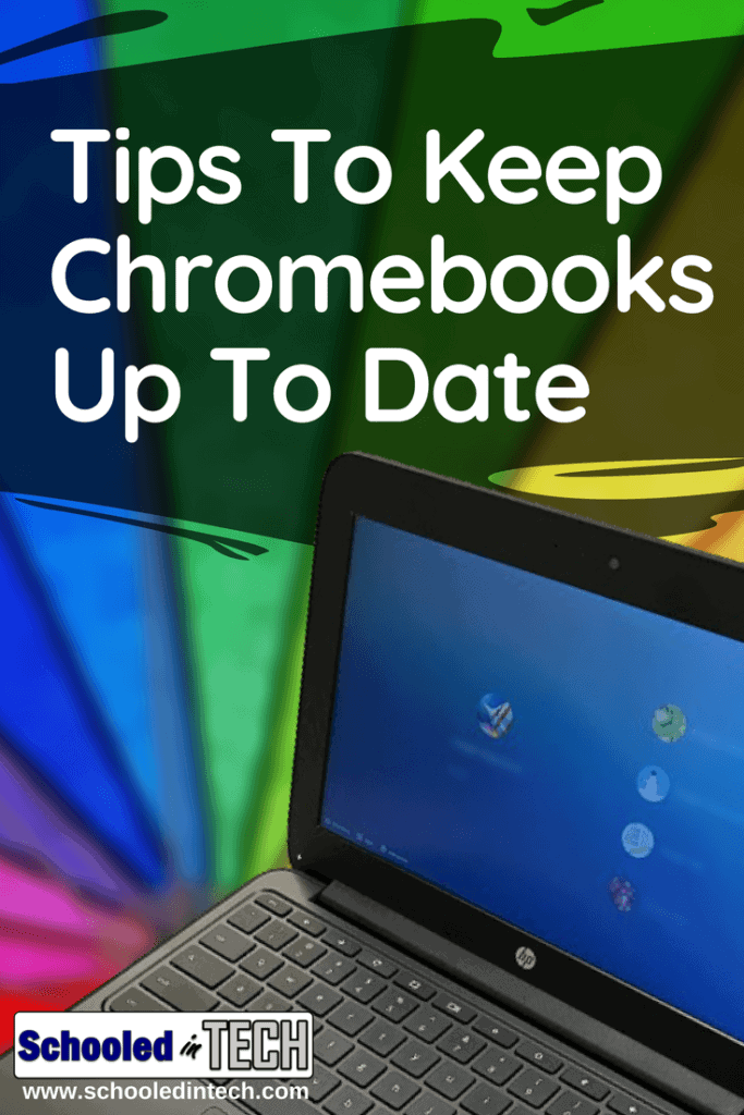 Google constantly updates it's Chrome OS and Chromebooks automatically download the updates. Follow these Tips To make sure they get installed without interrupting students or teachers #chromebook #updates #chromeos #school #backtoschool #teacher
