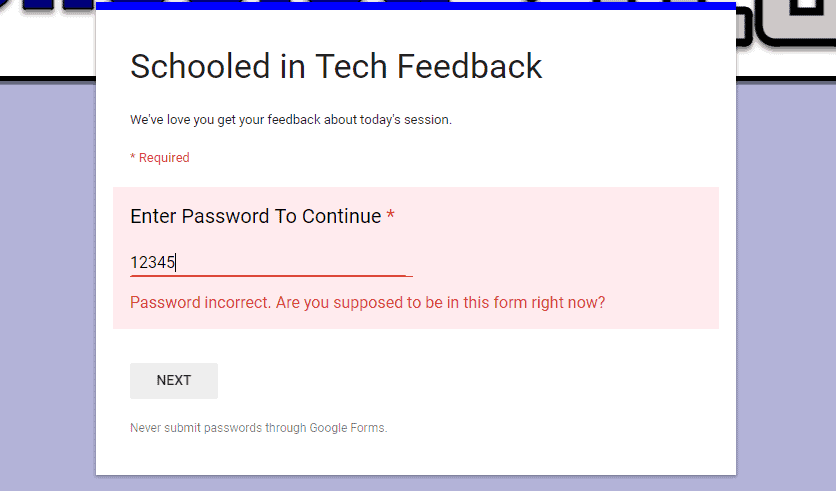 Password Protect Google Form
