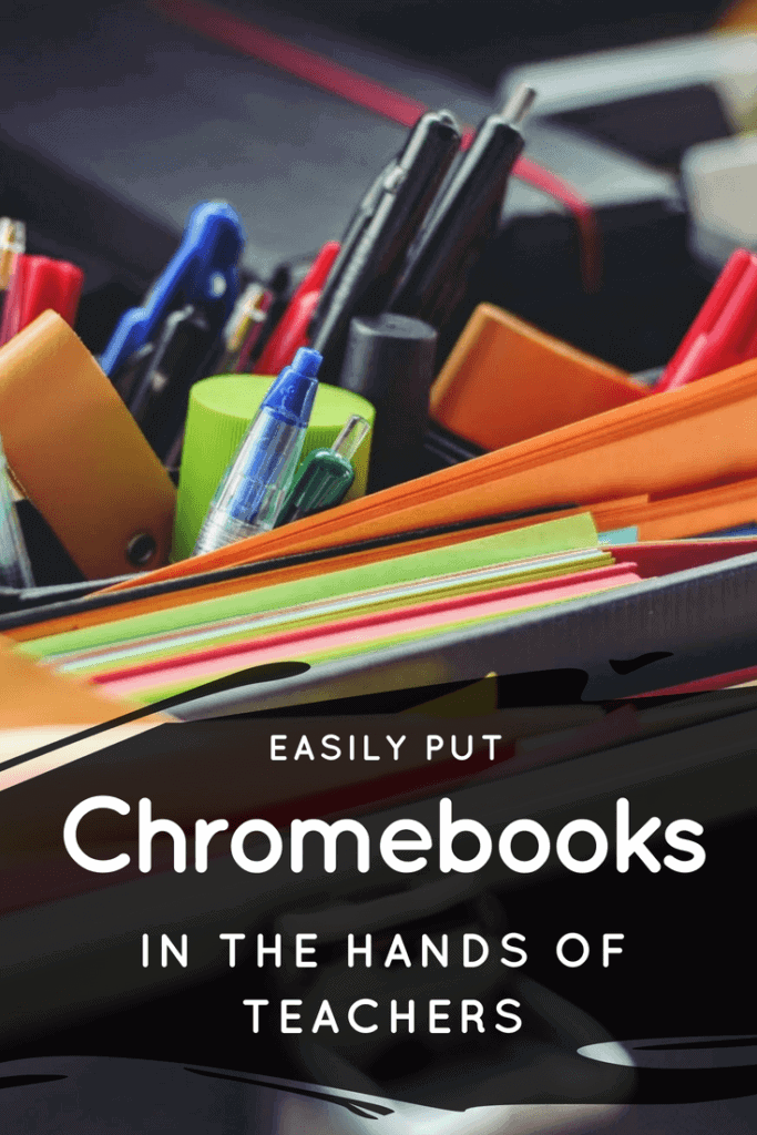 Here's a simple technology tip to allow your teachers to learn how easy Chromebook are to use and for them to gain experience using devices your students are already familiar with. #chromebook #teacher #school #edtech #k12