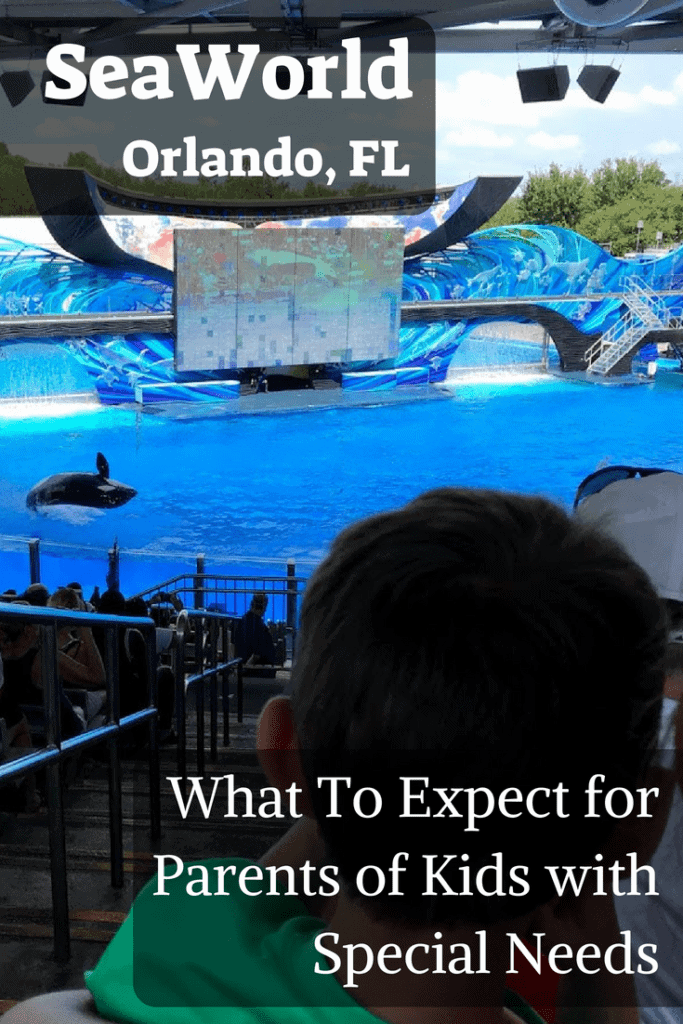 A review of what parents of special needs kids can expect at SeaWorld. Specifically child with autism. #Autism #SeaWorld #specialneeds #vacations