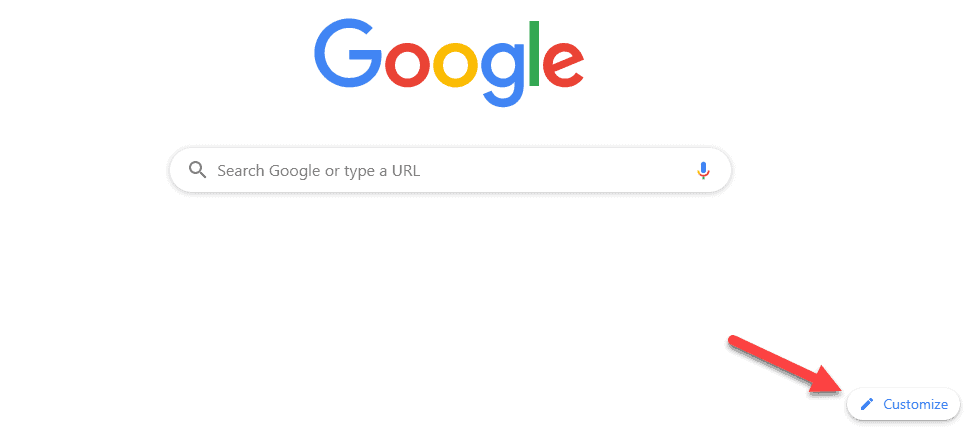 Customize Google Search Page New Tab Background