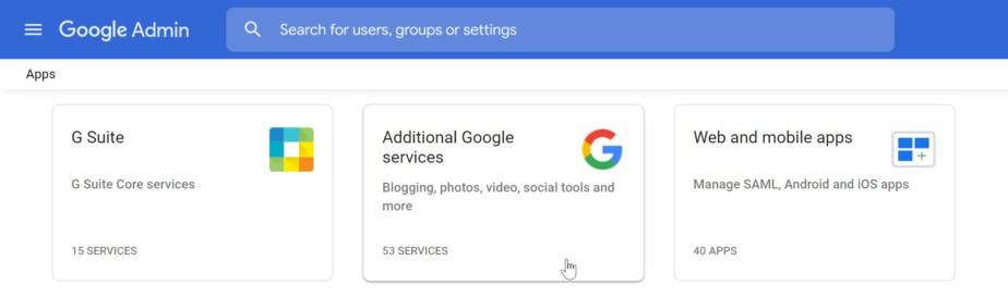 Additional Google Services