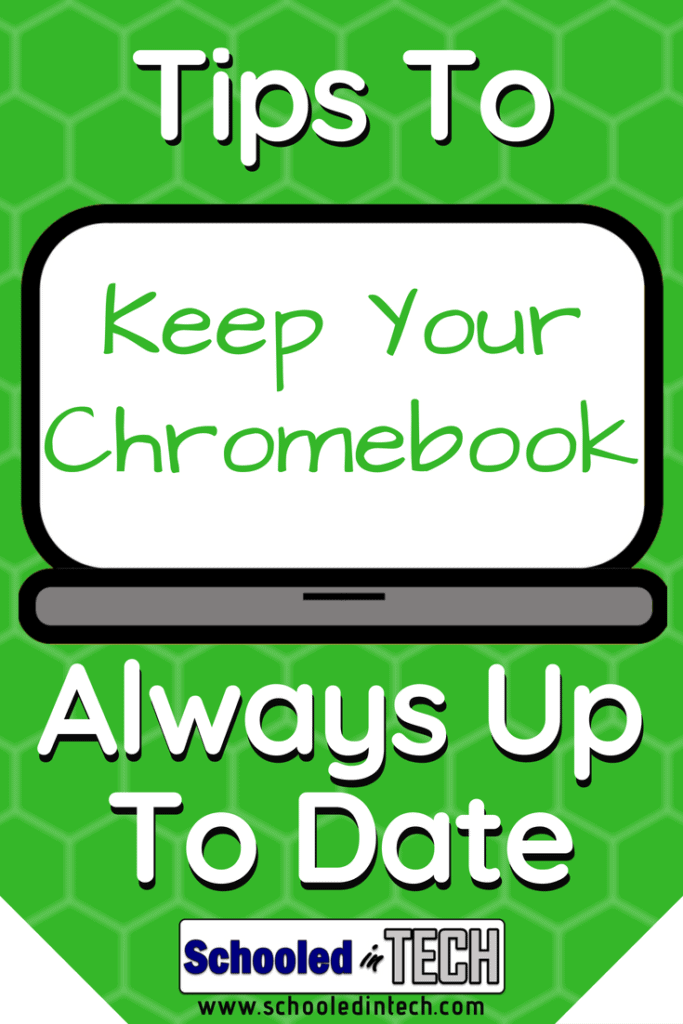 It is important for educational technology Chromebooks to have their Google Chrome OS operating system up to date. Chromebook tips to keep them update in the classroom. Teachers and Students can do these tricks. #chromebook #edtech #teacher