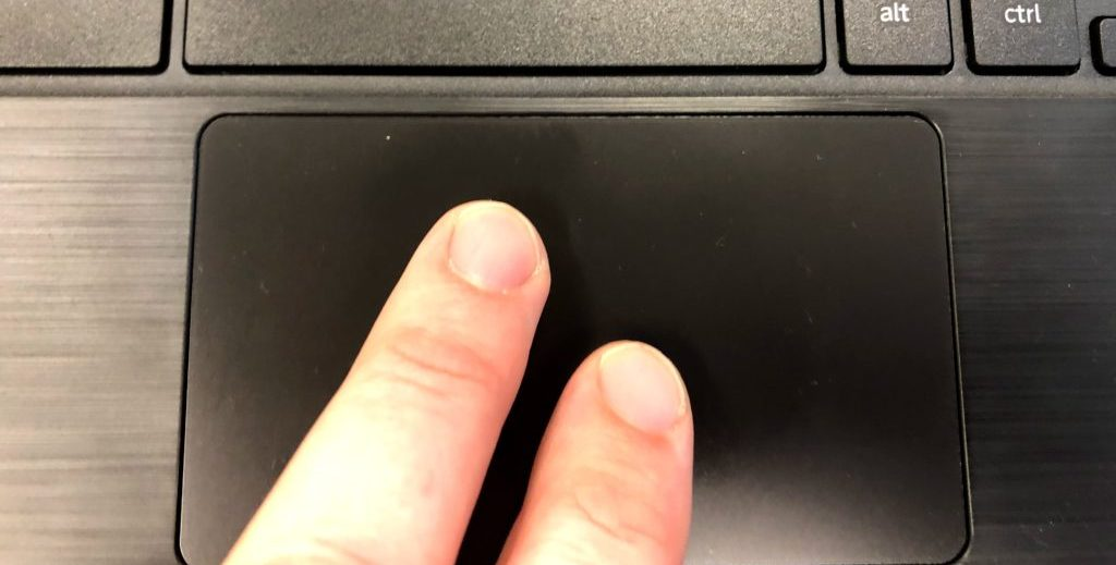 Chromebook Touchpad 2 finger rick-click